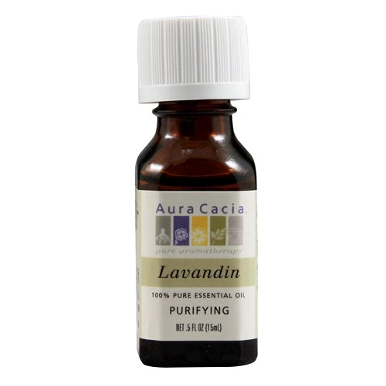系統的時々時々メトロポリタンAura Cacia, 100% Pure Essential Oil, Lavandin, .5 fl oz (15 ml)