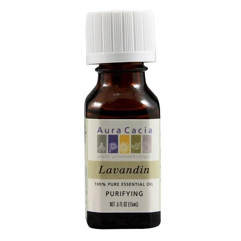 ホイール入植者伝えるAura Cacia, 100% Pure Essential Oil, Lavandin, .5 fl oz (15 ml)