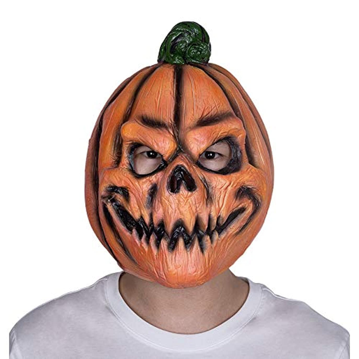 コーデリア特異性花瓶ハロウィーンパンプキンヘッドカバーラテックス恐怖ダンスパーティーカーニバルパーティーおかしいが、ヨーロッパやアメリカをマスクマスク