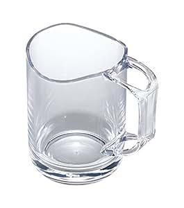 like-it 歯みがき コップ 歯ブラシスタンド付 水が切れるスタンドマグ クリア 容量:270ml 119692