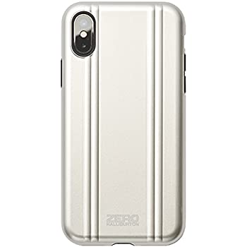 【iPhoneX ケース】ZERO HALLIBURTON(ゼロハリバートン) Hybrid Shockproof case for iPhone X スマホケース 米軍MIL規格取得 耐衝撃 (SILVER シルバー)