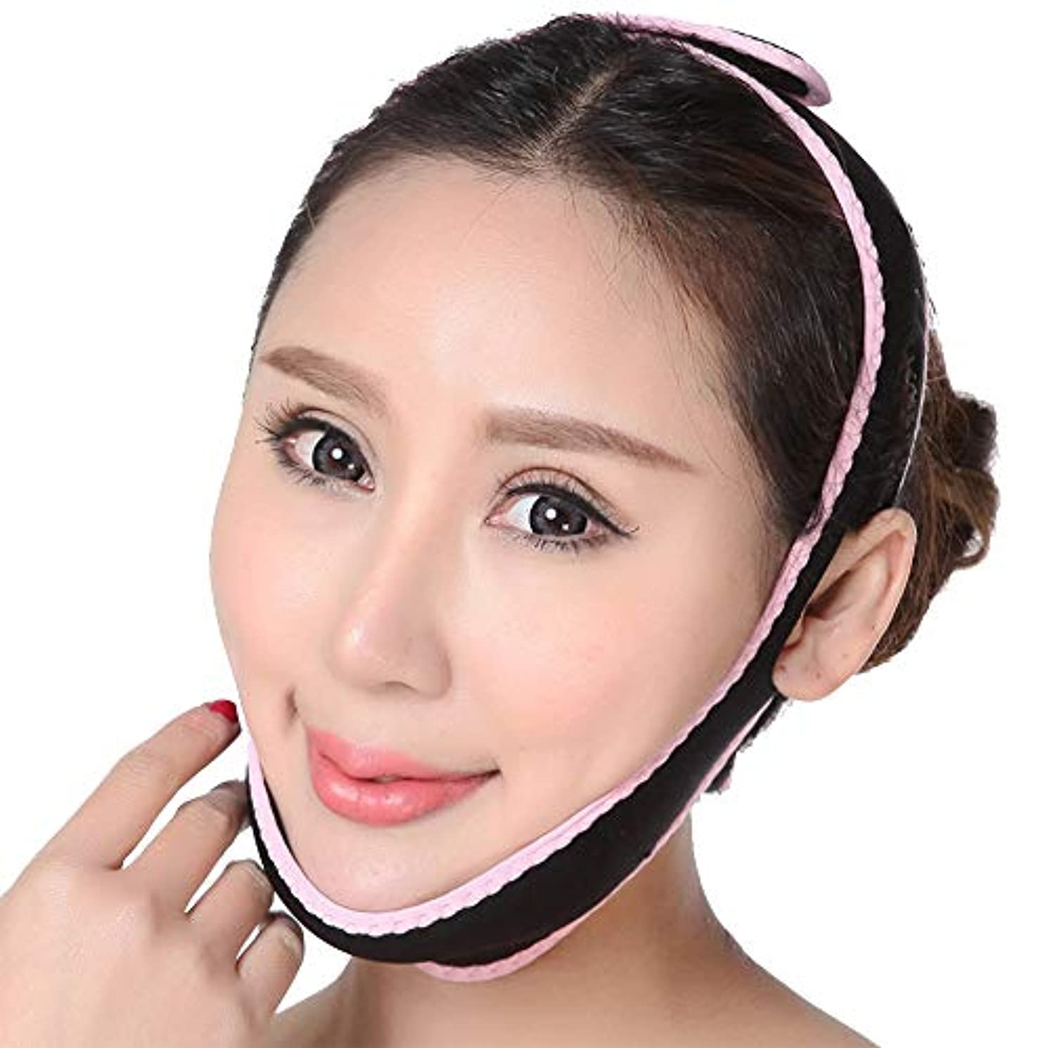ナチュラ区別欠如女性用フェイススリミングマスク、ダブルチンレデューサー、フェイスリフティングベルト超薄型Vシェイプチンスリミングバンドアンチリンクルレディフェイシャルアンチエイジングストラップマスクチークスリムビューティーツール