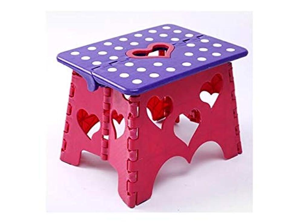 考古学者途方もないパーツ折りたたみ釣りチェア 創造的なプラスチック折り畳みステップスツールポータブルアダルト子供釣りスツールMazar椅子(紫と赤)