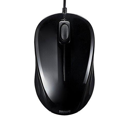 サンワサプライ 有線マウス 静音 ブラック ブルーLED式/3ボタン 静音タイプ MA-BL9BK