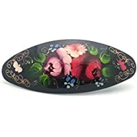 Russian Hair Clip Hand Painted Barrette/ Zhostovo style by Handmade in Russia [並行輸入品]