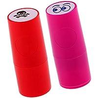 Sharplace 2本 カラーファスト ゴルフボールスタンパー マーカー 印象 速乾性 可愛い 全15選択