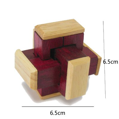ワハハ 木製 立体 パズル 知恵 知育 脳トレ 指先 刺激 心心相印