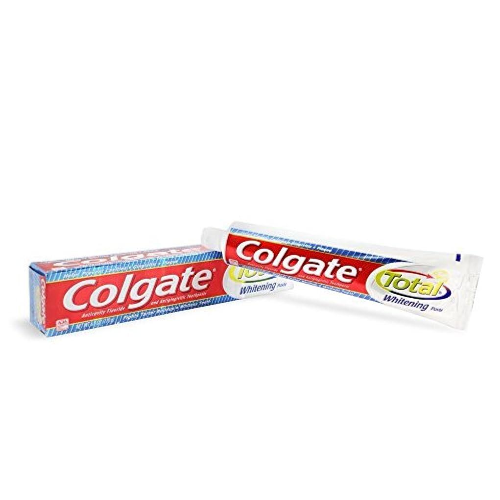 バイオレットライラック虐殺Colgate トータルホワイトニング歯磨き6オズ(12パック)