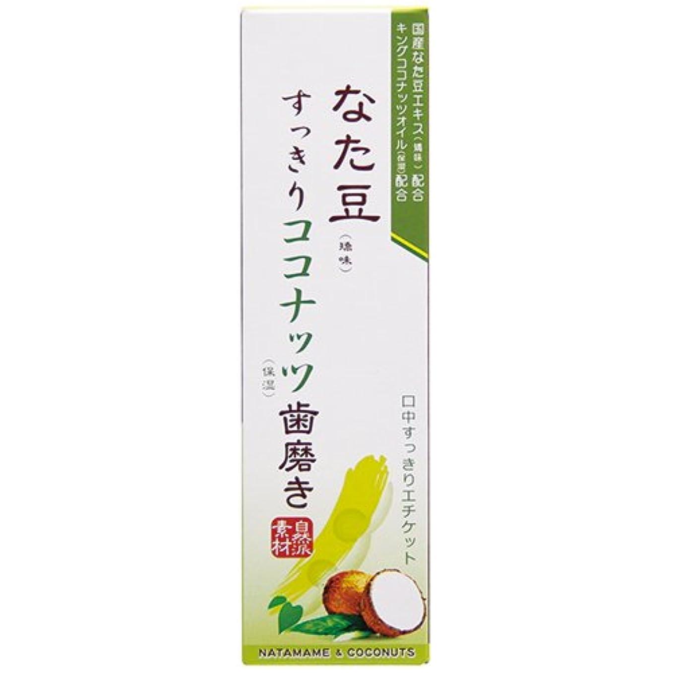 ベアリングサークル評価可能岸なた豆すっきりココナッツ歯磨き粉 120g