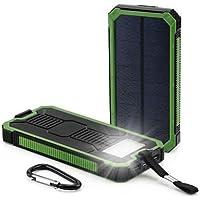 US 50000 mAhソーラーパワーバンク2 LED 2 USBバッテリー充電器防水