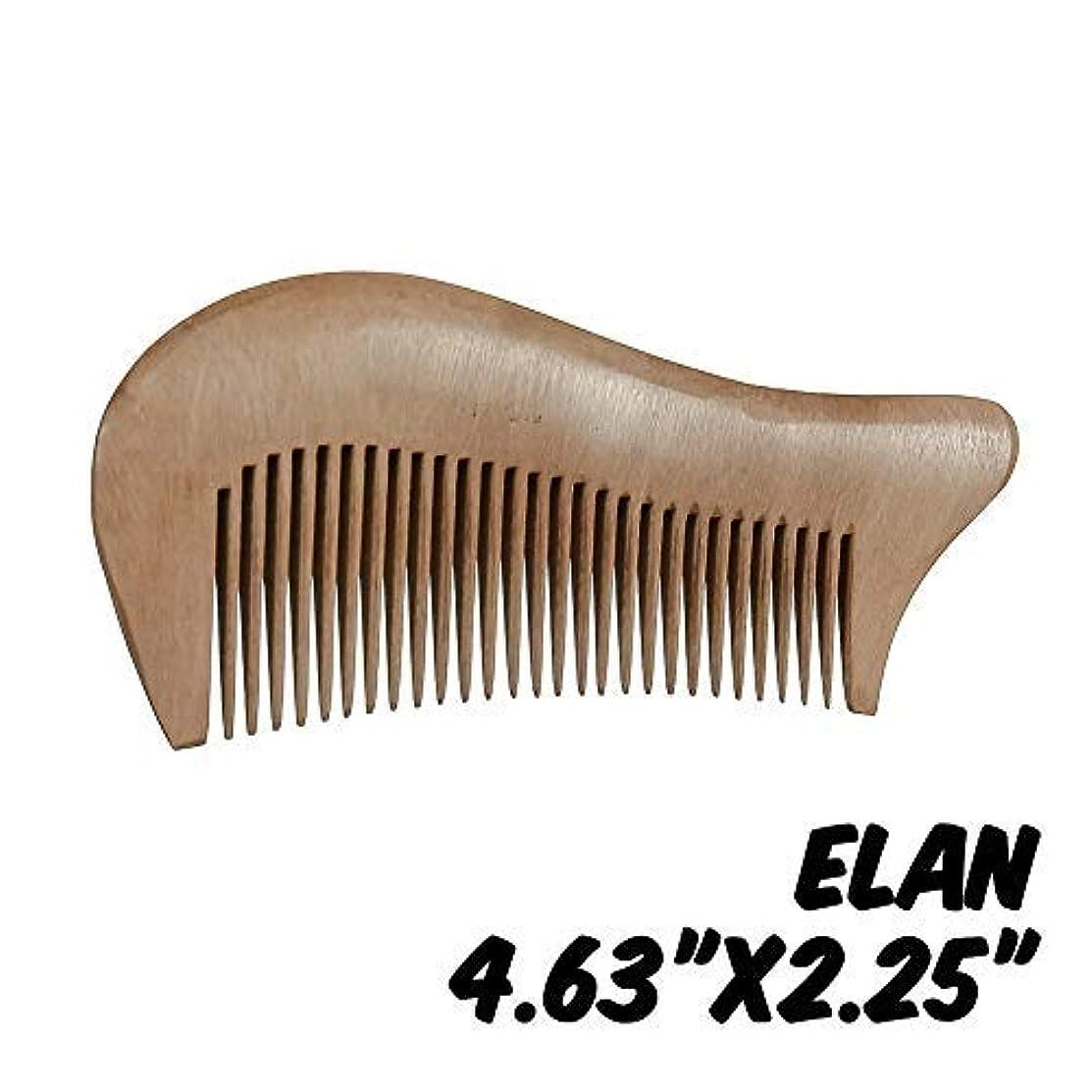 フック櫛固有のMarkin Arts Elan Series Handmade Natural Organic Indian Lilac Wood Anti-Static Hypoallergenic Pocket Handle Dry...