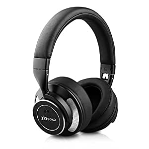 Zinsoko ヘッドホン BluetoothV4.0 アクティブノイズキャンセリングヘッドホン 有線と無線両用 高音質 騒音隔離 マイク内蔵 ハンズフリー 通話 Hi-Fi音質 Z-H01 (ブラック)