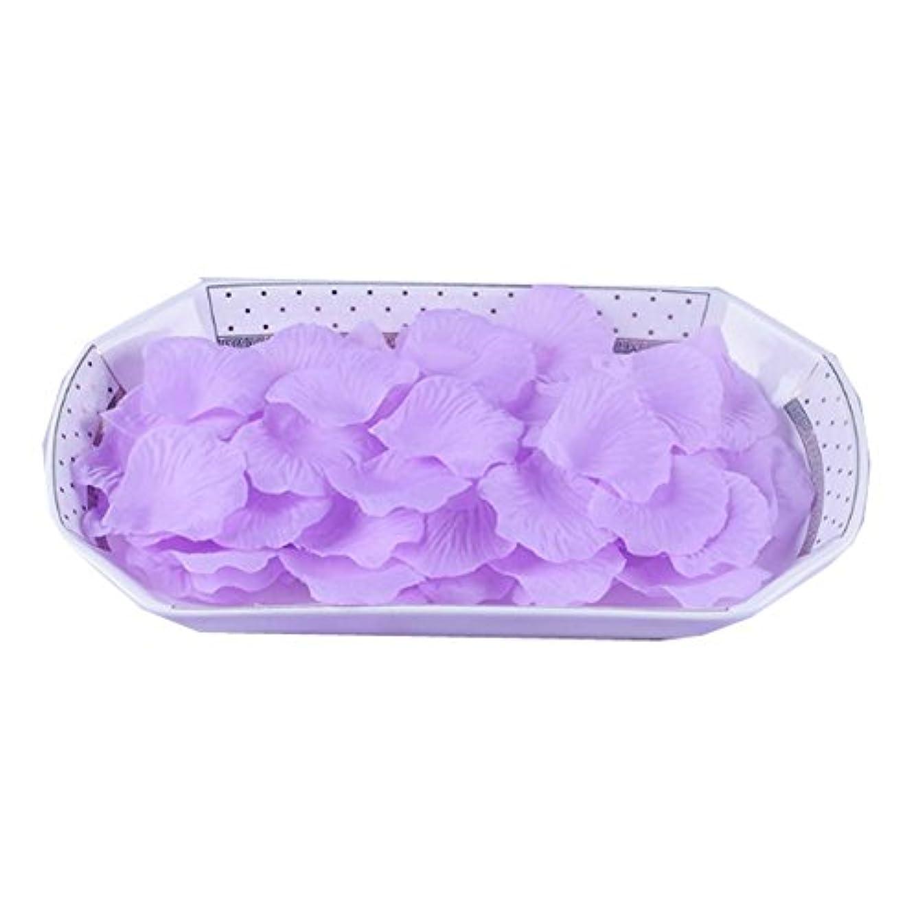 比較泥お香結婚式のパーティーの装飾のための人工のバラの花びらパープル3000台のPC