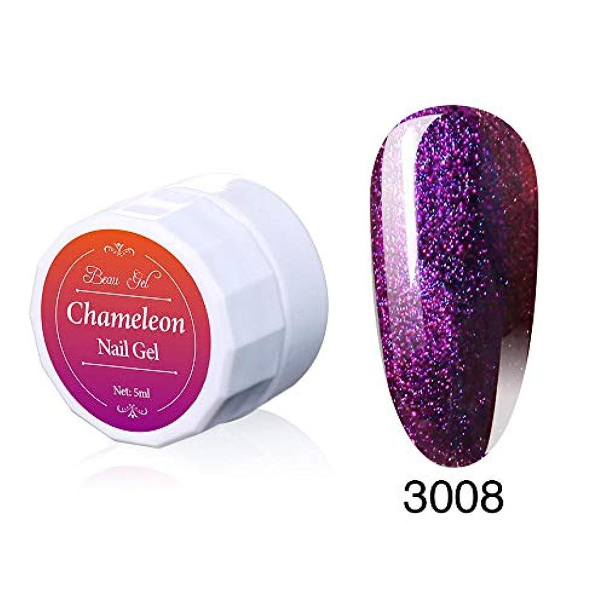 裁定金曜日含むBeau gel ジェルネイル カラージェル 変色系 1色入り 5ml-3008