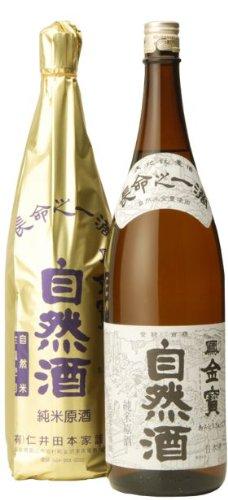 金寶仁井田本家 福島県 『優撰自然酒』 純米原酒 1.8L