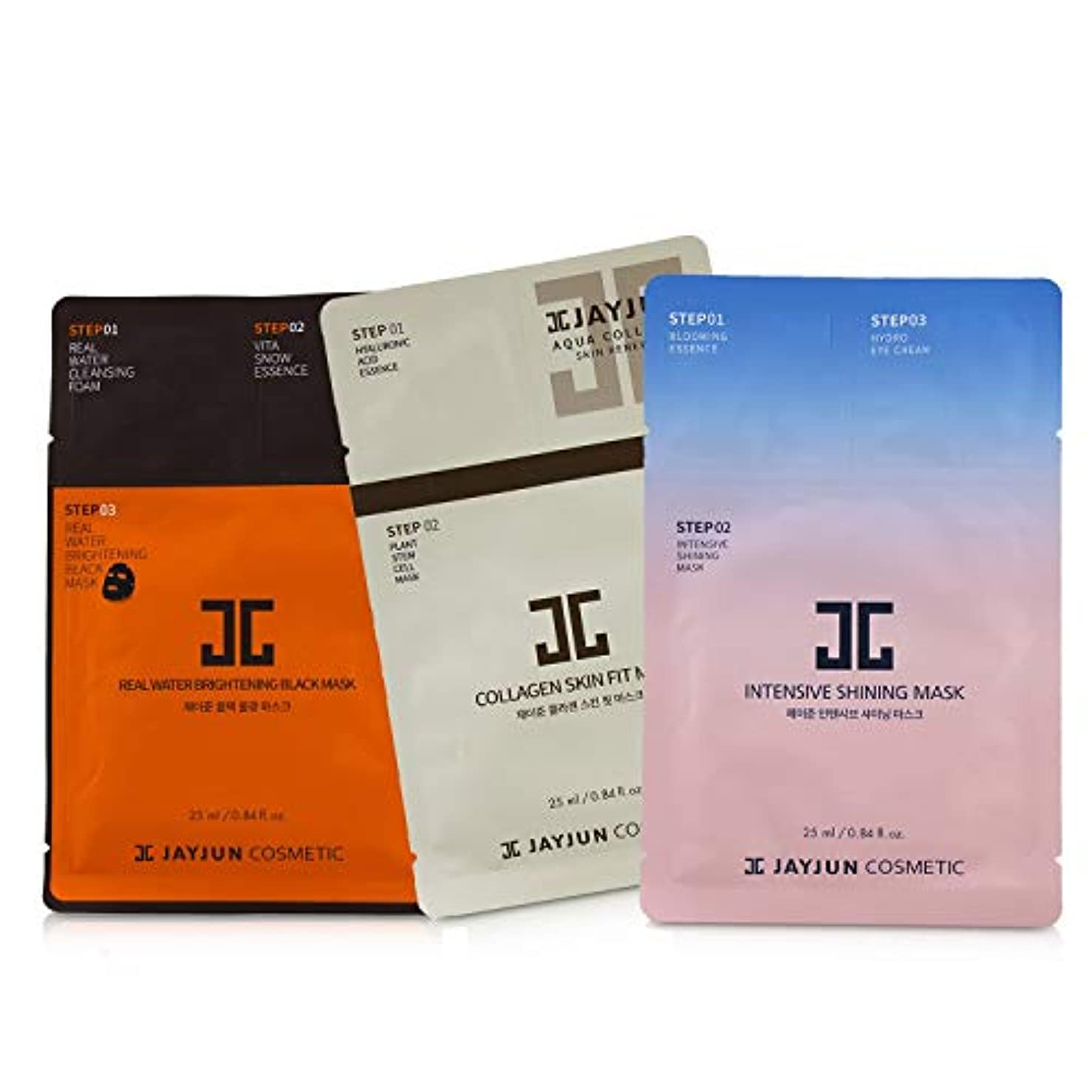 宣教師繊維吐き出すジェイジュン Best Seller Mask Set (2x Intensive Shining, 2x Real Water Brightening, 2x Collagen Skin) 6sheets並行輸入品