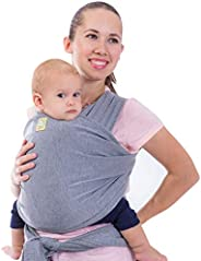 KeaBabies Baby Wrap Carrier All-in-1 Stretchy Baby Wraps - Baby Sling - Infant Carrier - Babys Wrap - Hands Fr