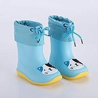 [Yikaifei] レインブーツ キッズ 長靴 レイン子供用 女の子 男の子 雨靴 オシャレ カジュアル ンブーツ おしゃれ レインシューズ 滑り止め レインブーツ 長靴 防水 軽量 梅雨対策 春、夏、秋、冬 ブルー 16cm