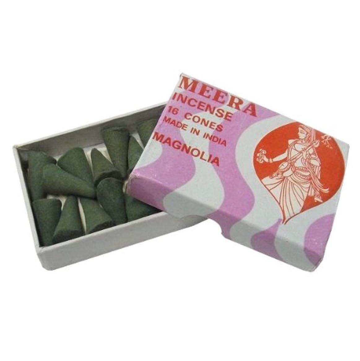 練習したシャープ物理的にマグノリアのお香(MEERA) コーン型お香 インド香