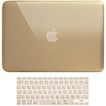 MS factory MacBook Pro 15 ケース カバー + 日本語 キーボードカバー マックブックプロ 15インチ ハードケース Pro15 Mid 2009 ~ Mid 2012 A1286 ディスクスロット搭載 全11色 クリスタル シャンパン ゴールド RMC series RMC-SETP15XGD