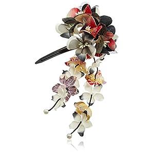 [粋花]Suika和柄髪飾り152 黒