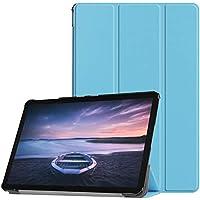 Galaxy Tab S4 10.5 タブレットケース、高耐久 ハード キッズ プルーフ カバー PU フローディング ケース フォリオ 保護 ウルトラ スリム シェル オートウェイク/スリープ付き Samsung Galaxy Tab S4 10.5 SM-T830/T835/T837 ブルー