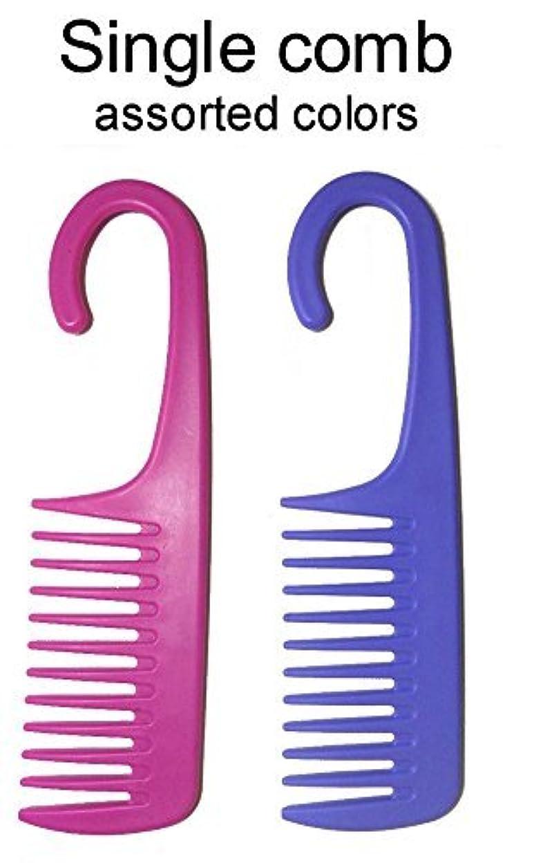 警報ウッズむちゃくちゃ1 Comb Exfoliage Hair Detangling/Conditioning Shower Wide Tooth with Hook for Hanging - COLORS MAY VARY [並行輸入品]
