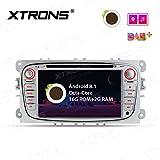 XTRONS 7インチ Android 8.1 オクタコア HD デジタル マルチタッチ スクリーン カーステレオ GPS ラジオ DVDプレーヤー OBD2 TPMS Wifi フォード フォーカス モンデオ シルバー PR78FSF-S