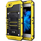 iPhone 7 iPhone 8 シェル カバーs, 防水 電話 シェル Mrstar 薄いです & スリム TPU+ 硬い PC シェル スクラッチ耐性es 携帯電話ケース プレミアム スリム 360度 フル ボディー 保護 カバー の iPhone 7 iPhone 8 (Yellow)