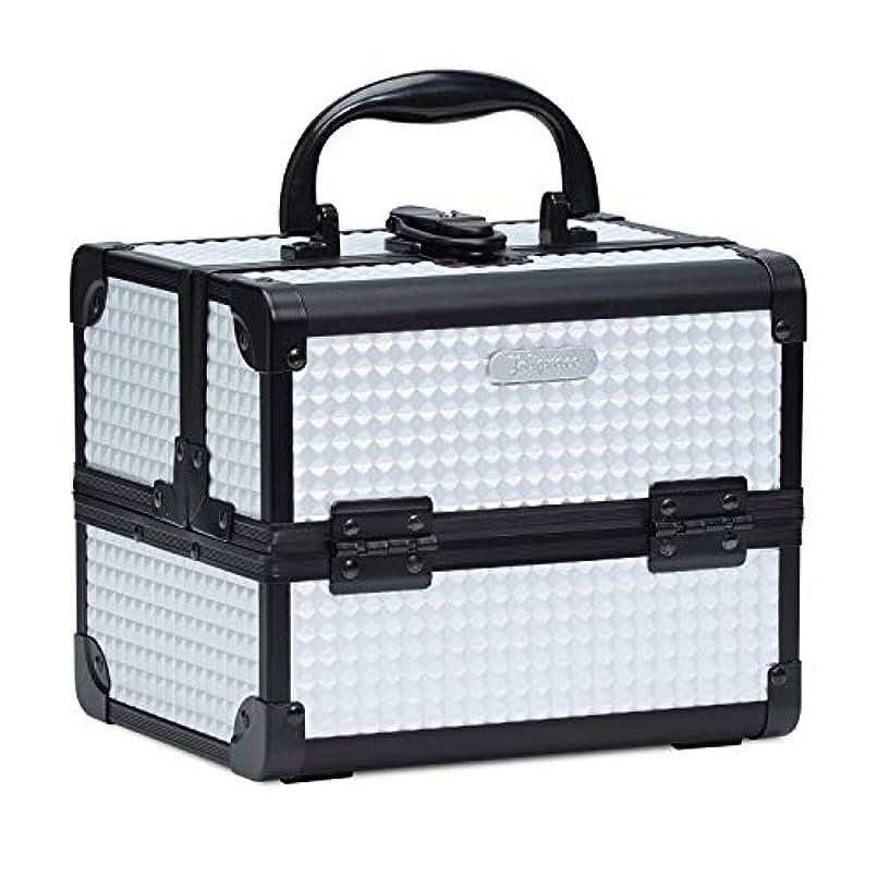 旅行者害虫コンパイルHapilife コスメボックス 鏡付き スライドトレイ メイク用品収納 プロ仕様 小型 化粧箱