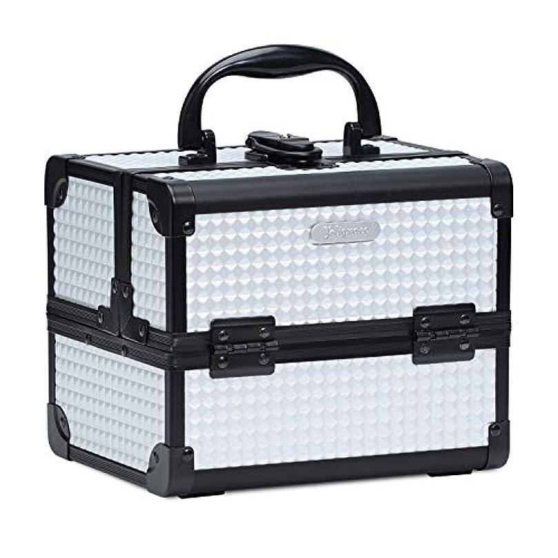 五月城ビクターHapilife コスメボックス 鏡付き スライドトレイ メイク用品収納 プロ仕様 小型 化粧箱