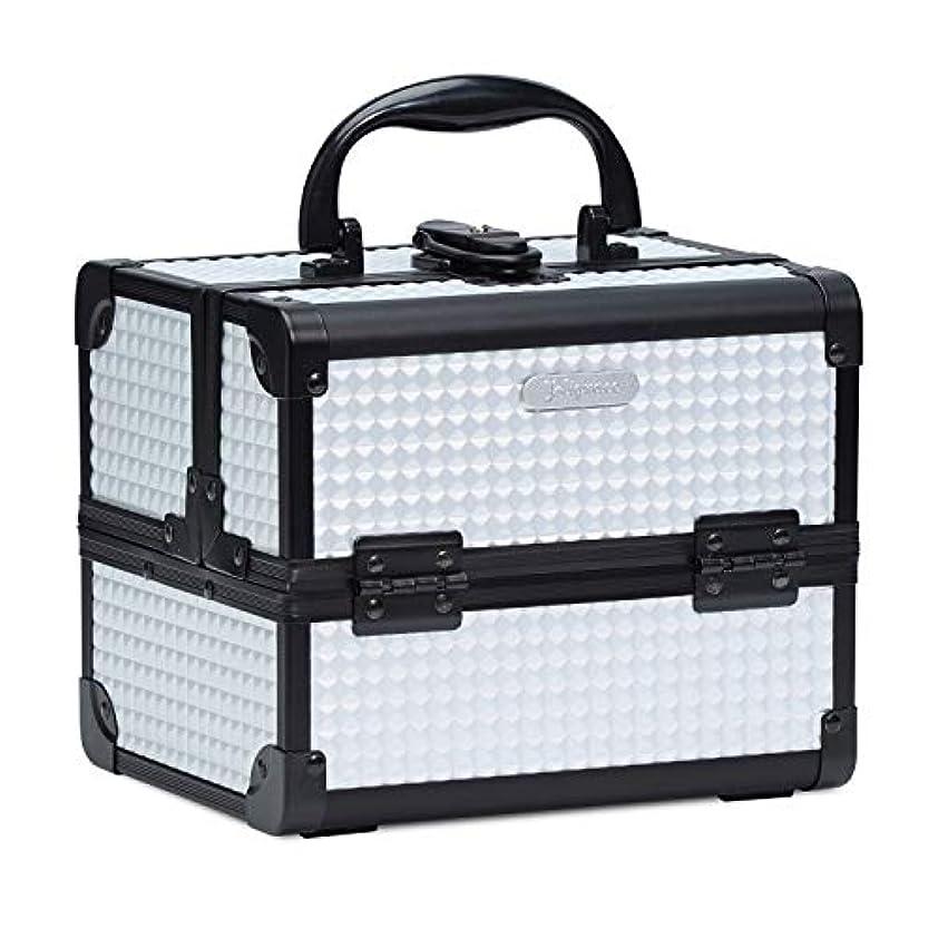 効果的ブランデー表現Hapilife コスメボックス 鏡付き スライドトレイ メイク用品収納 プロ仕様 小型 化粧箱