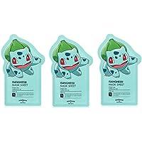 Tonymoly Pokemon Sheet Mask pack(3 Sheets) トニーモリ― ポケットモンスター マスクパック 3枚入り (ISANGHESSI (3 Sheets))