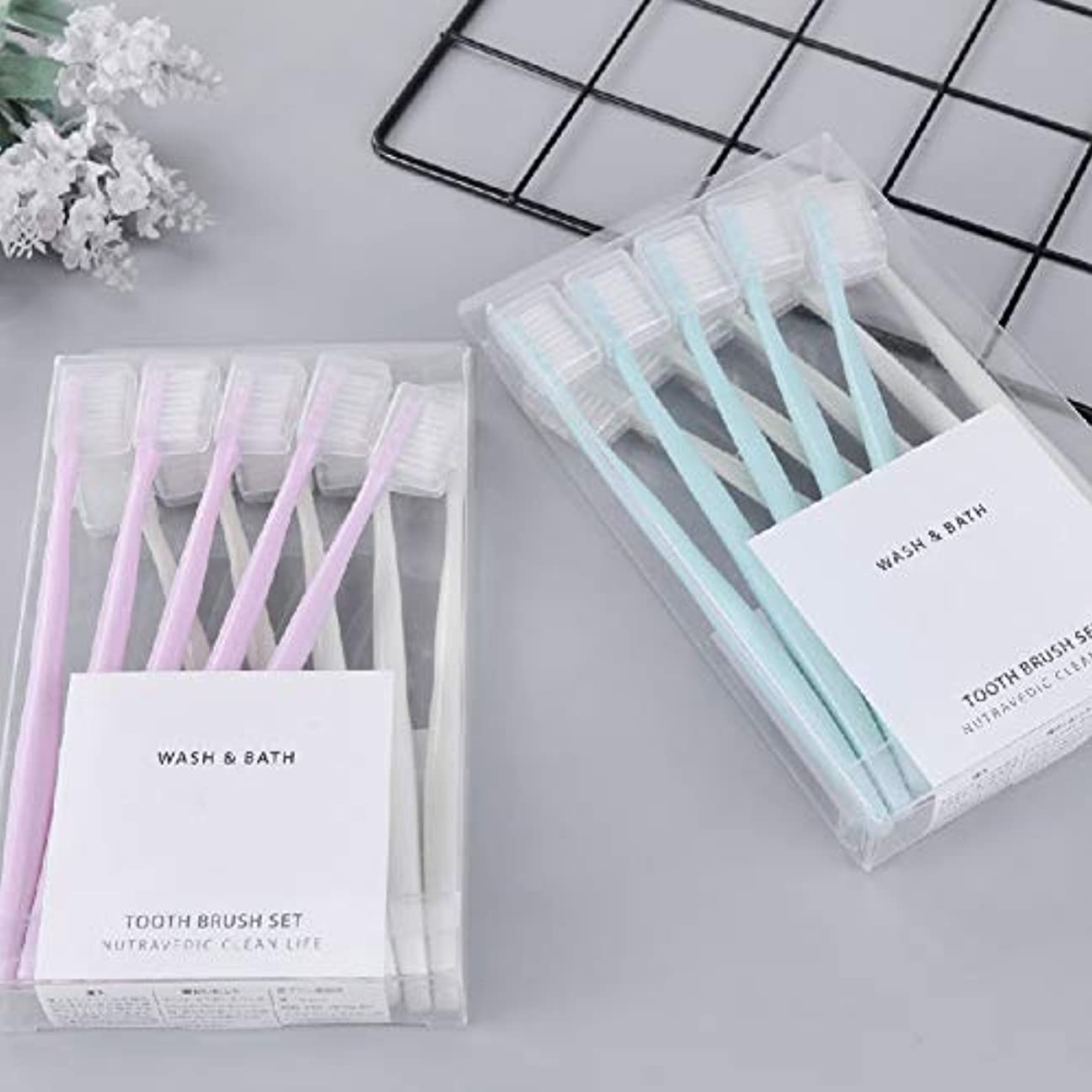 ファッションレモン異常な歯ブラシ×10本 やわらかめ歯ブラシ天然の柔らかい FidgetFidget ハブラシ 超コンパクト歯ブラシ 旅行用歯ブラシ