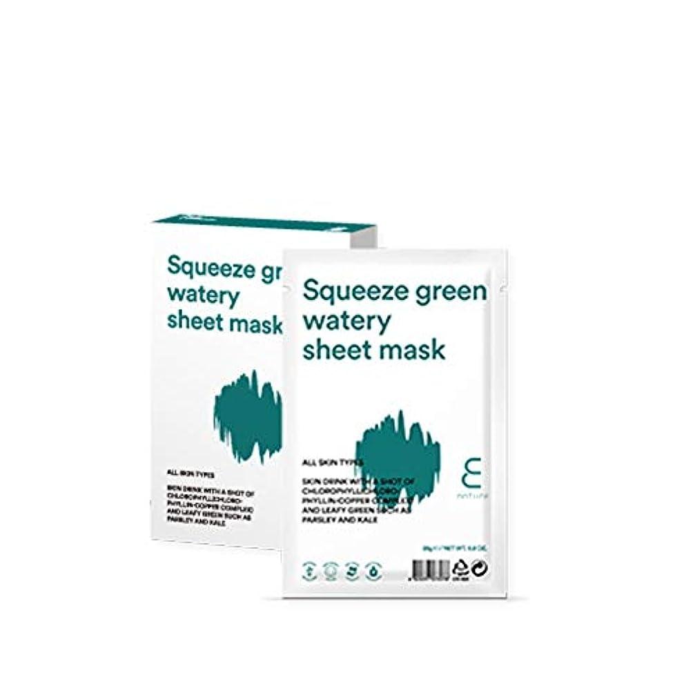 罪退屈させるうがい【ENATURE 日本公式サイト】スクィーズグリーンウォータリーシートマスク 25gx10枚 韓国コスメ スキンケア