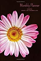 """Monthly Planner: Pink Flower; 24 months; January 1, 2020 - December 31, 2021; 6"""" x 9"""""""
