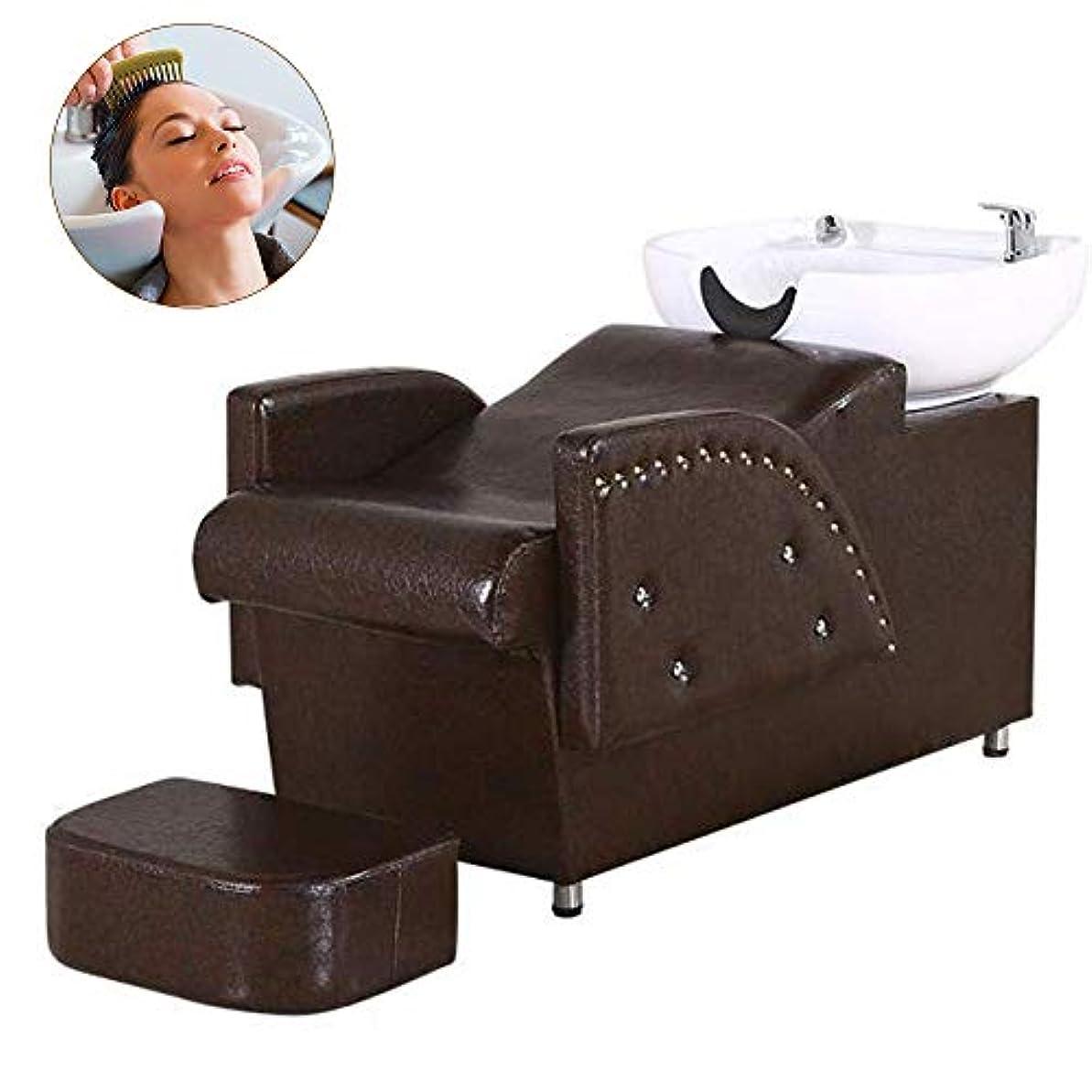 しわ簡潔な病んでいるシャンプーチェア、逆洗ユニットシャンプーボウル理髪シンクチェアスパ美容サロン機器シャンプーベッド