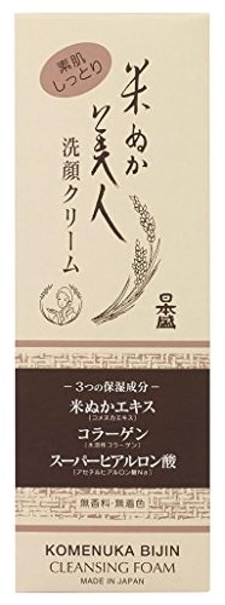 名義でコンパクト発行する米ぬか美人 洗顔クリーム