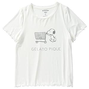 [ジェラート ピケ]SNOOPYモダールベアTシャツ PWCT181352 ウィメンズ OWHT 日本 F-(FREE サイズ)