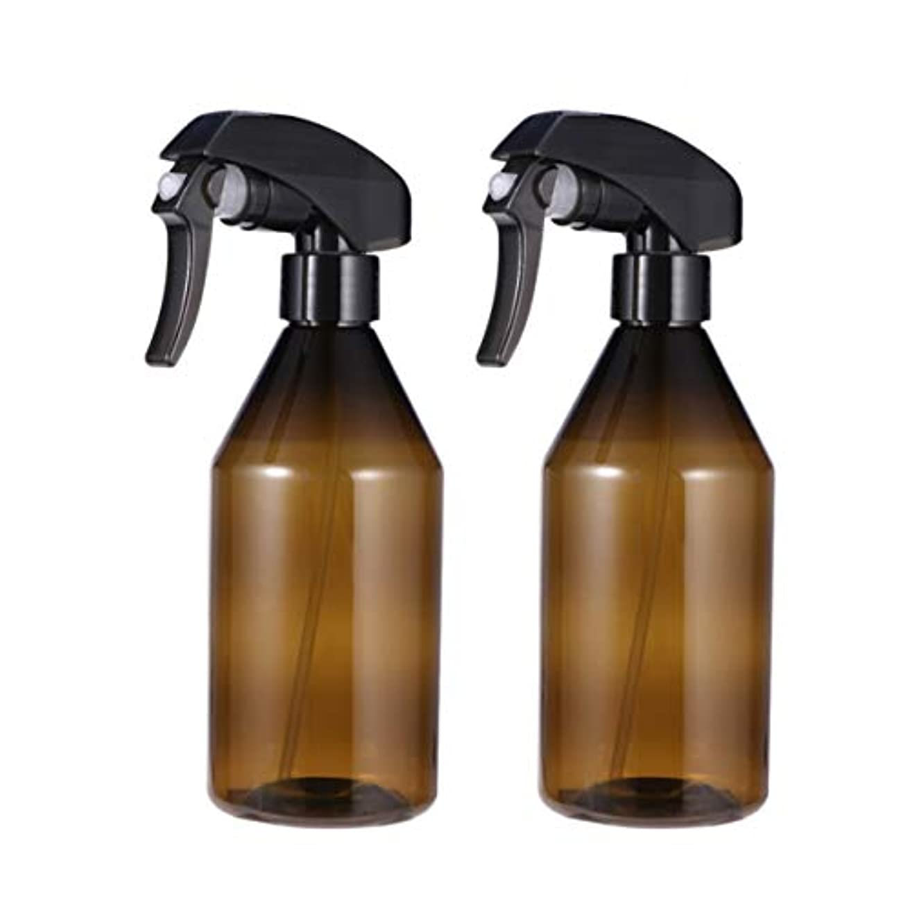 振り子殺しますループFrcolor スプレーボトル 遮光スプレー 霧吹き プラスチック製 300ml 詰め替え容器 ハンドスプレー 細かいミスト多機能 家庭用 保湿スプレー 植物水やり 便利 耐久性 2本セット(茶色)