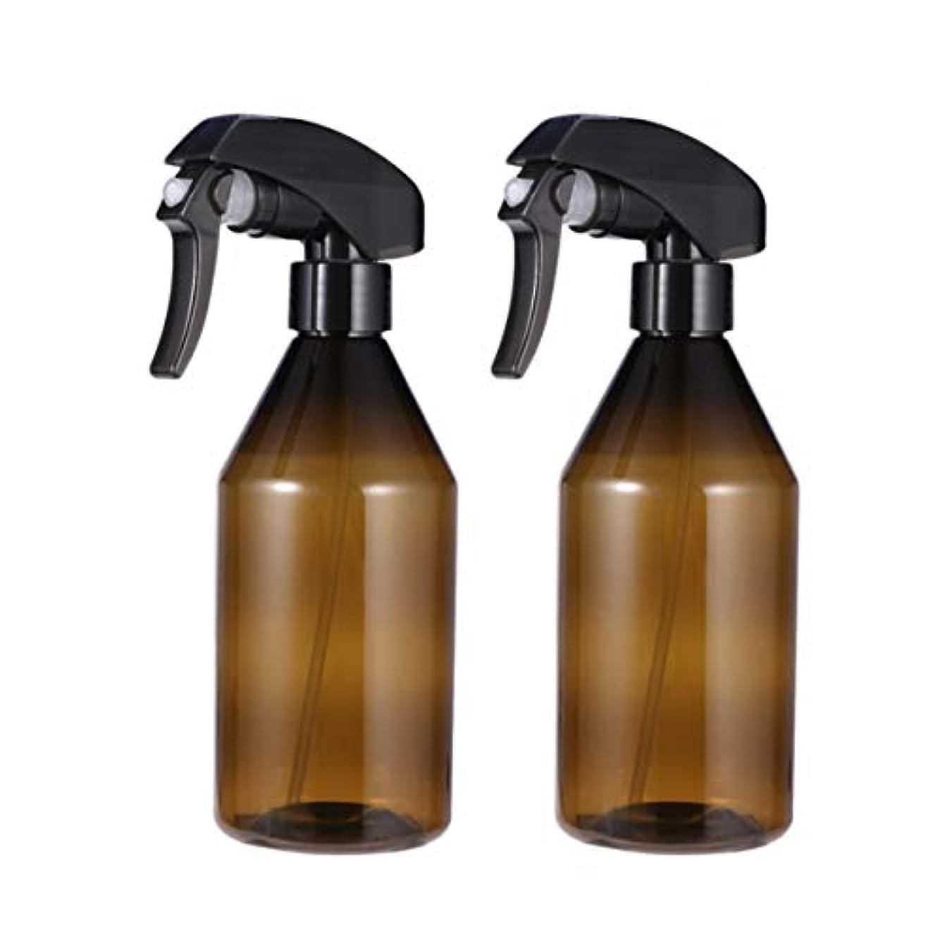 入る名詞せっかちFrcolor スプレーボトル 遮光スプレー 霧吹き プラスチック製 300ml 詰め替え容器 ハンドスプレー 細かいミスト多機能 家庭用 保湿スプレー 植物水やり 便利 耐久性 2本セット(茶色)