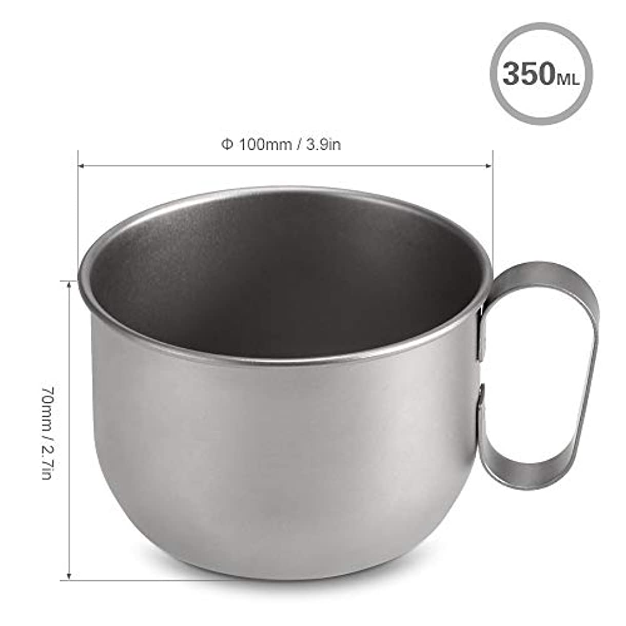 進行中十分にムス350ミリリットルチタンカップ超軽量キャンプマグポータブルコーヒービールジュースミルクカップ