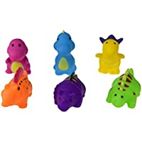 TOYMYTOY 6 Pcs Baby Bath Time Fun Dinosaur Rubber Bathtub Toys [並行輸入品]