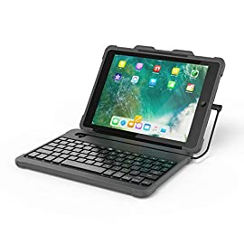 dodocool iPad 9.7有線キーボード アップルスマホンも対応 脱着式 Lightningケーブル MFi認証 オートスリープ バックライトキー Apple Pencil用の内蔵ホルダー付き