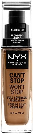 NYX Professional Makeup Can't Stop Won't Stop Full Coverage Liquid Foundation - 12.7 Neu