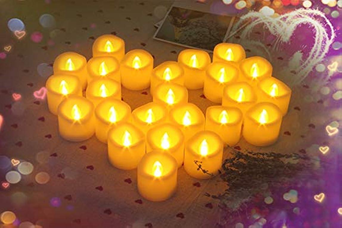 ぺディカブ読むプレゼンターLED Flameless Votive Candles ( Tealight )、with 6hタイマー、12パック、電池式、含まBe直径1.5