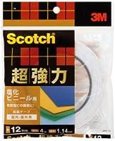 3M 超強力両面テープ 塩化ビニール用 (SPV-12) 12×4m ケース20巻入り