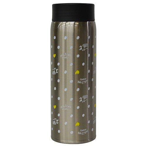 水筒 真空断熱 軽量 スクリュー式 マグ ボトル 0.48L ドットシルバー PREMIUMHALEIWA (プレミアムハレイワ) HGBNB480SV