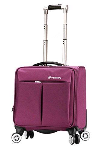 (ピーキー)Peigee ソフトキャリーケース スーツケース 軽量 無地 シンプル 機内持ち込み TSAロック 旅行 出張 (パープルB)