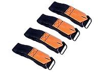タッチファスナーストラップダブルサイドテープExtentionユニバーサルストラップwithループ–2in x 36in 4 velcro straps FBA-VS-204